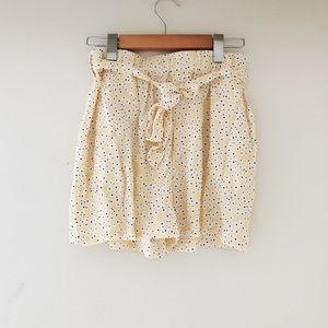 Yellow Floral Shorts